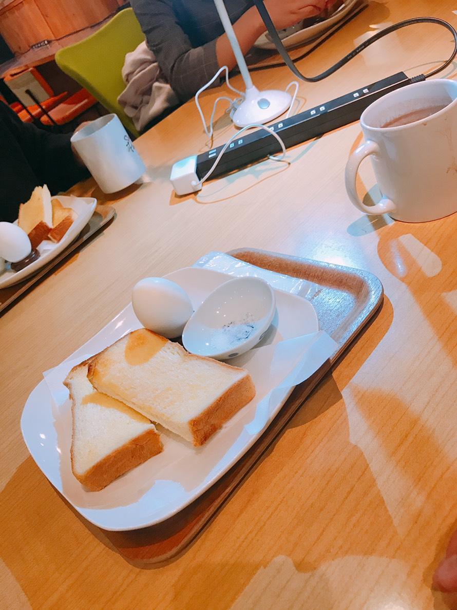 モーニングトースト&ゆで卵