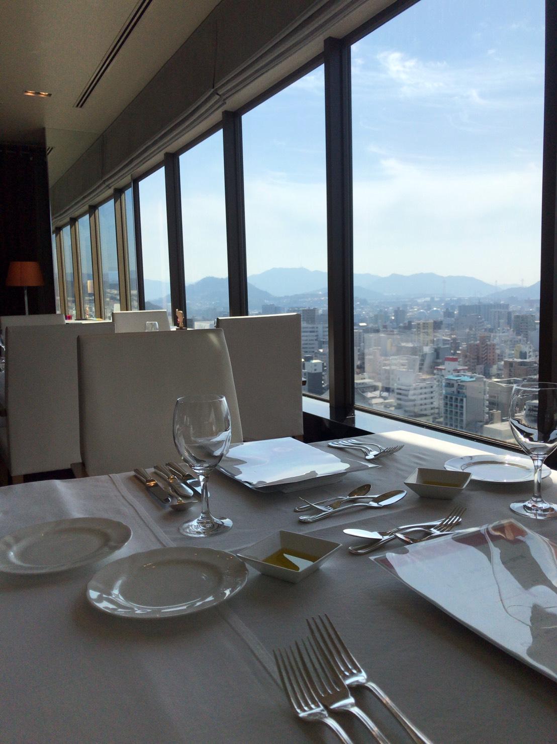 ANAクラウンプラザホテル広島からの景色