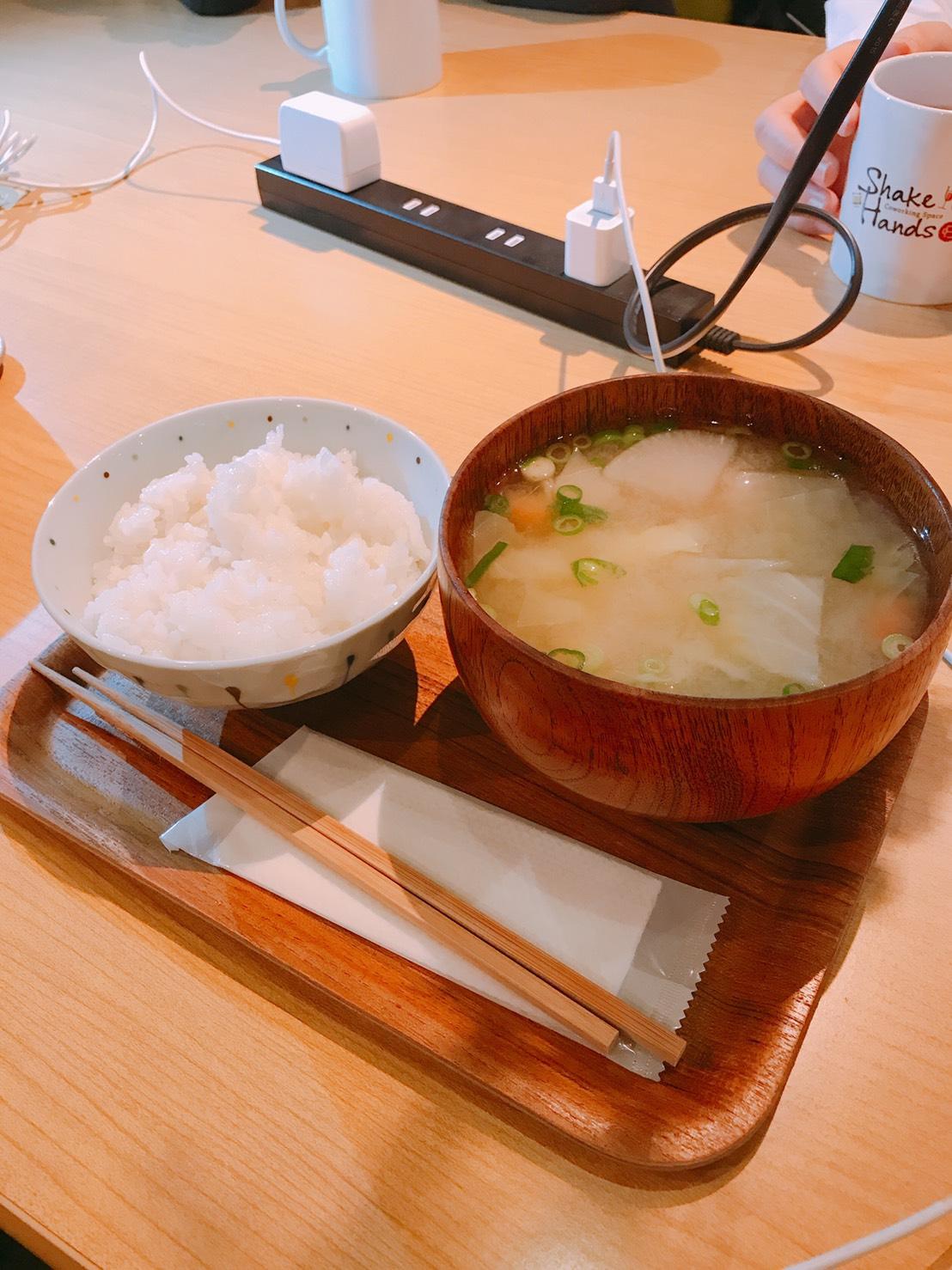 ご飯+味噌汁セット