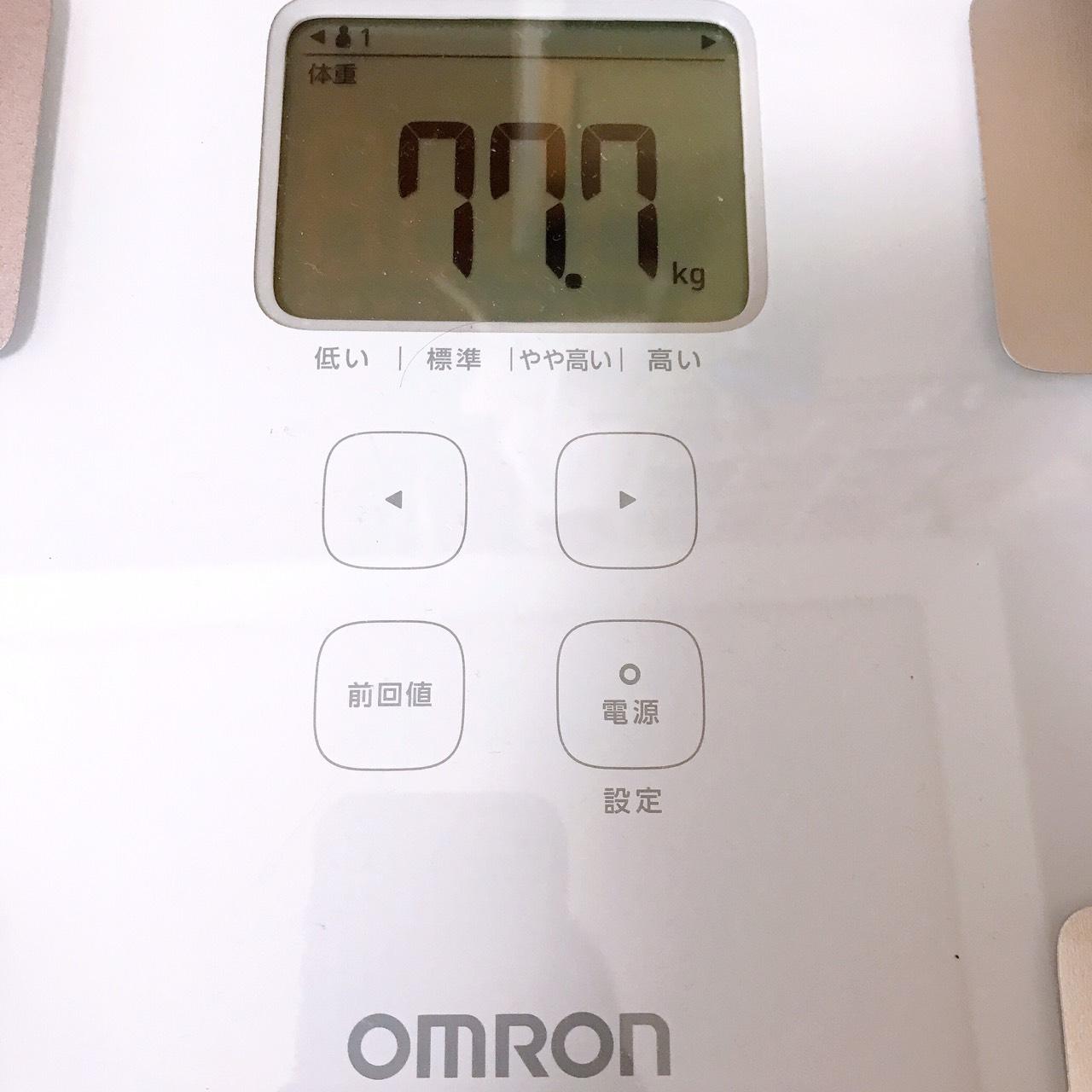 体重77.7kg