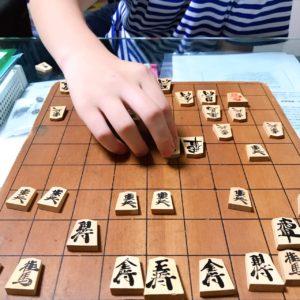 息子と将棋で対戦