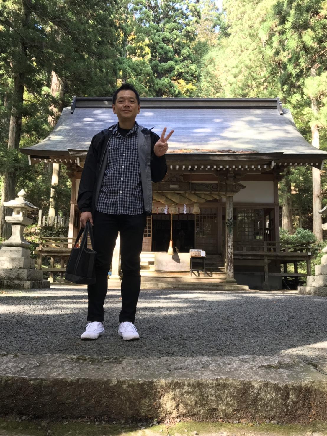熊野神社にて
