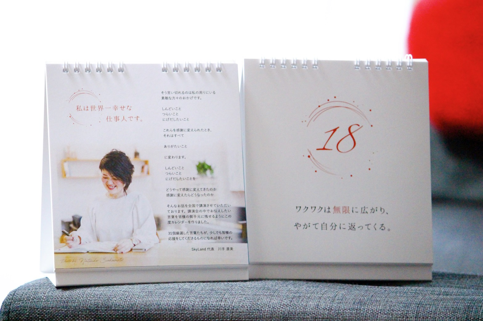 【まいにち、直美!】SkyLand川手直美氏 世界一幸せな仕事人になる日めくりカレンダー